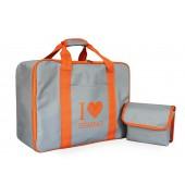 Nähmaschinentasche grau/orange für alle Nähmaschinen
